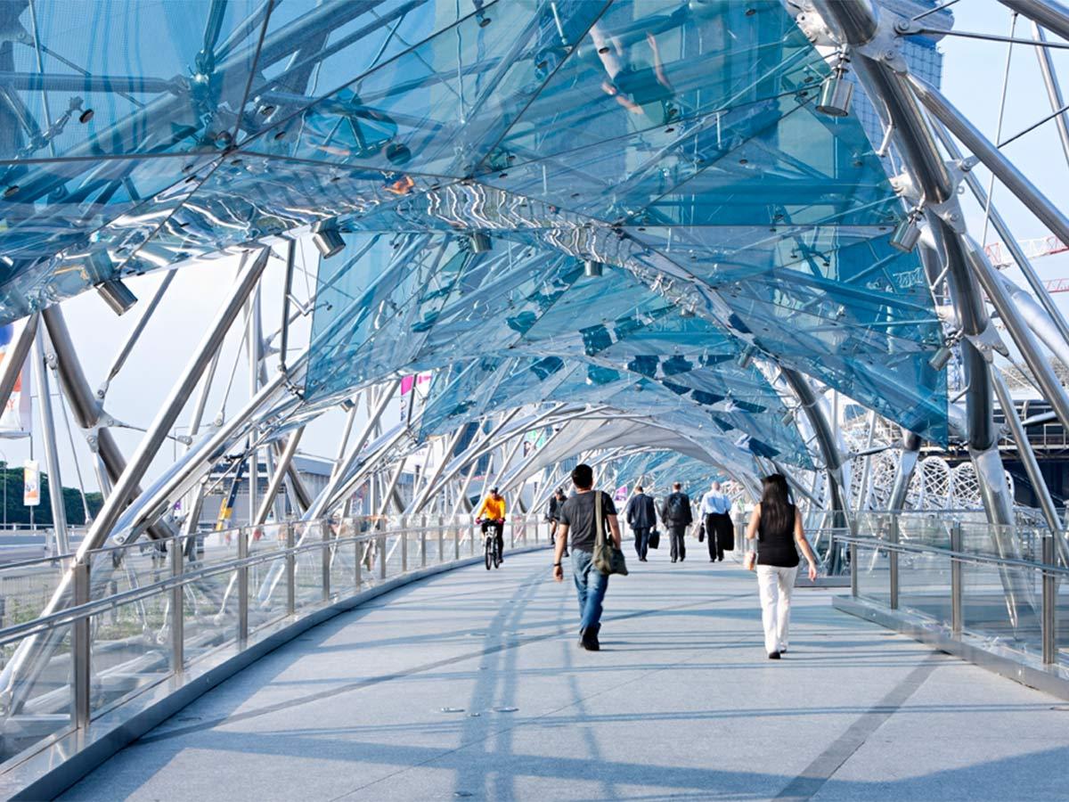 Before Blight Rayner - Helix Pedestrian Bridge © Christopher Frederick Jones