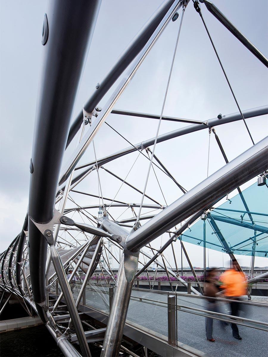Before Blight Rayner - Helix Pedestrian Bridge © Angus Martin