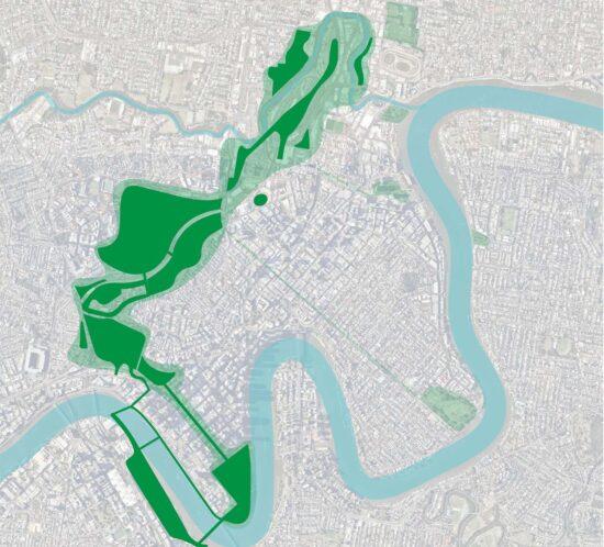 A 4.5 km continuous green corridor - Brisbane's Defining Green Corridor