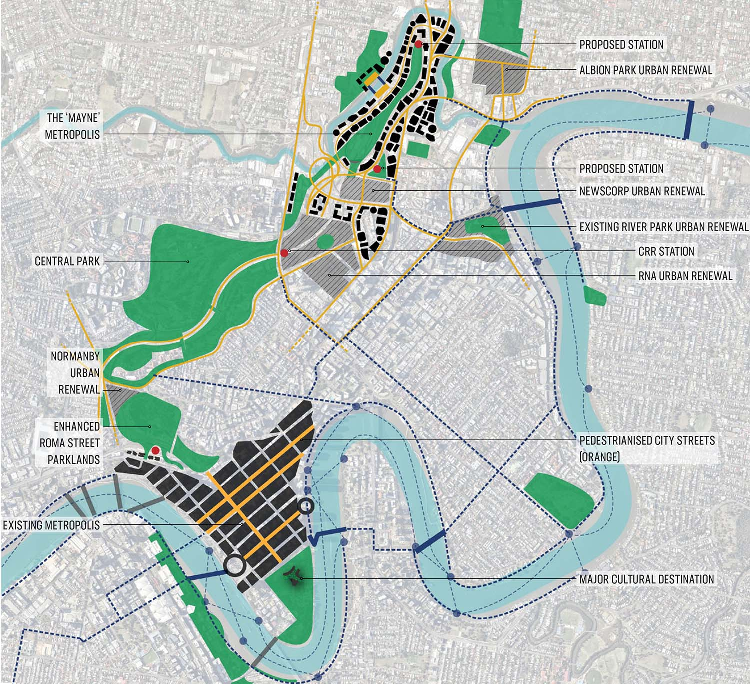 Main components of the plan - Brisbane's Defining Green Corridor